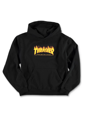 Thrasher - Flame Logo Hoodie Youth